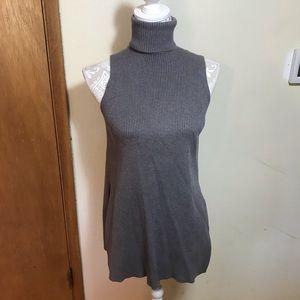 Zara gray turtleneck sweater/tunic, size S